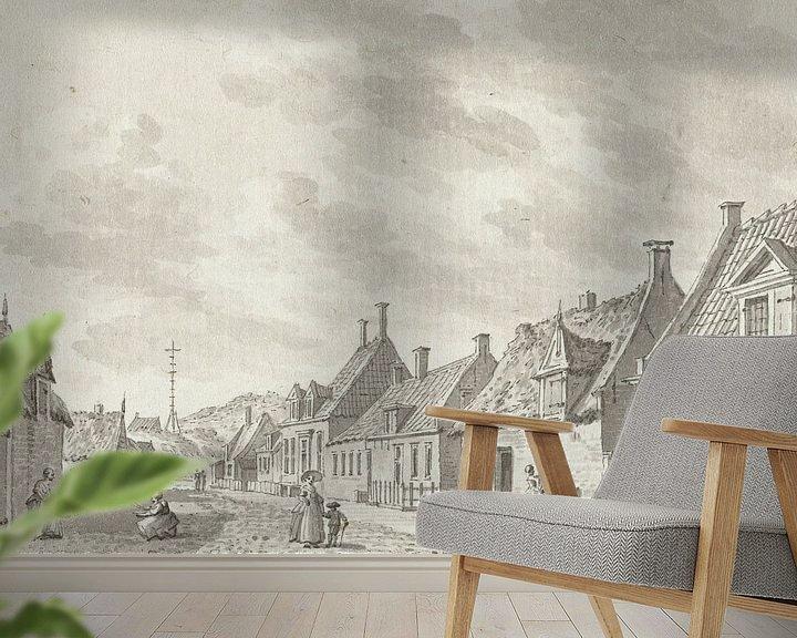 Beispiel fototapete: Gesicht in Zoutelande, Jan Bulthuis