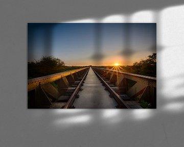 Sunset @ Moerputtenbrug van Max ter Burg Fotografie