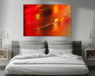 Rode richtingspijl in de regen van Torsten Krüger