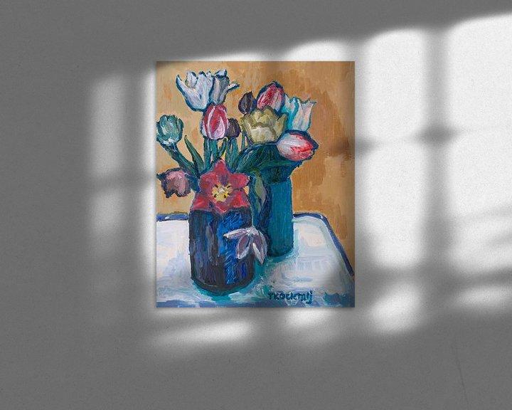 Sfeerimpressie: Tulpenmanie nr3 van Tanja Koelemij