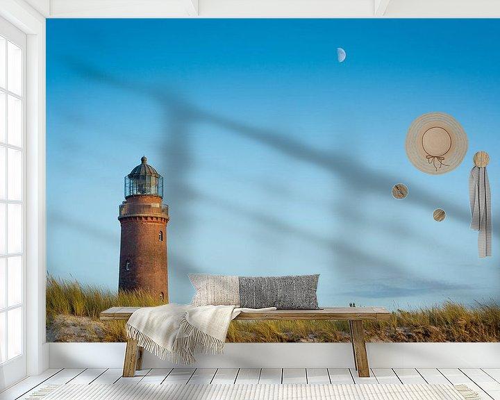 Beispiel fototapete: Leuchtturm und Mond von Martin Wasilewski