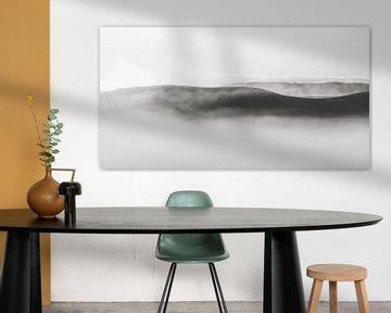 Zwart-wit landschap van Marina de Wit