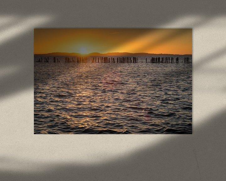 Beispiel: Sonnenuntergang am Bodden von Martin Wasilewski