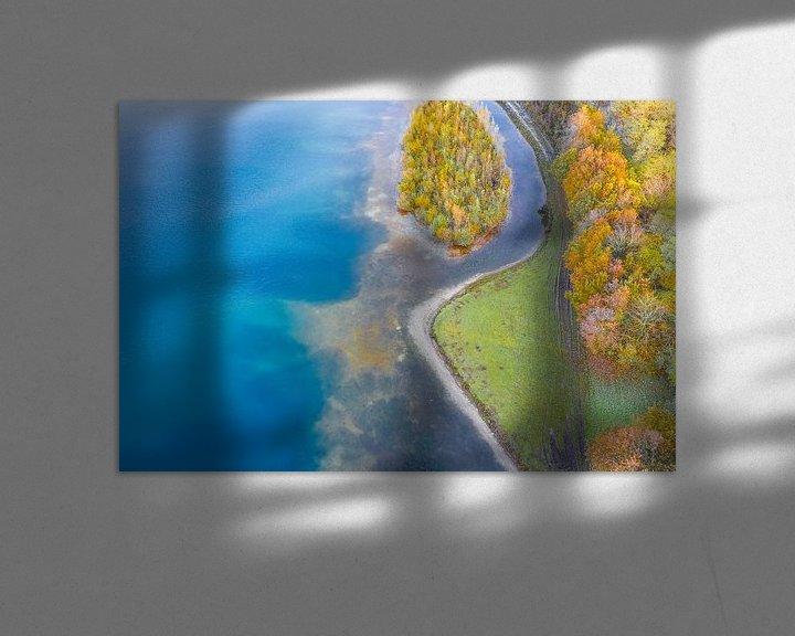 Sfeerimpressie: Waterlinie in herfstsfeer van Bernardine de Laat