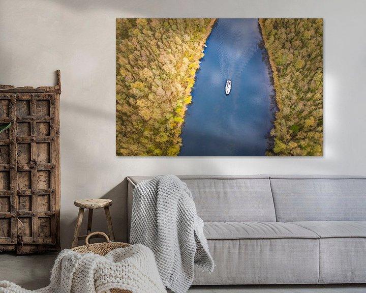 Sfeerimpressie: Kanaal in herfstsfeer van Bernardine de Laat