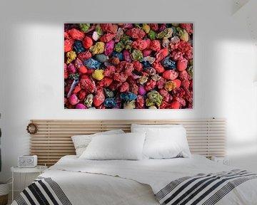 Bunte Trockenblumen von Jan Katuin