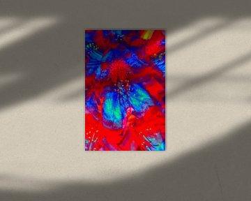 Bunte Rhododendronblüte, Rhododendron, abstrakt von Torsten Krüger