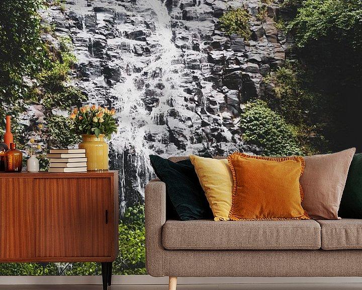 Beispiel fototapete: Wasserfall im Regenwald von Ennio Brehm