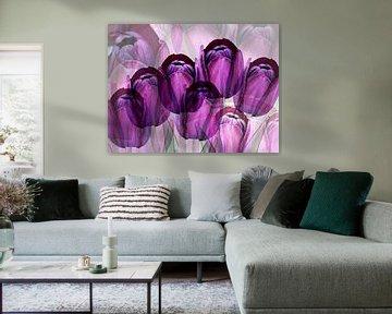 Paarse tulpen creatie von Ina Hölzel
