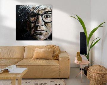 Portret van Andy Warhol, Andrew Warhola van Therese Brals