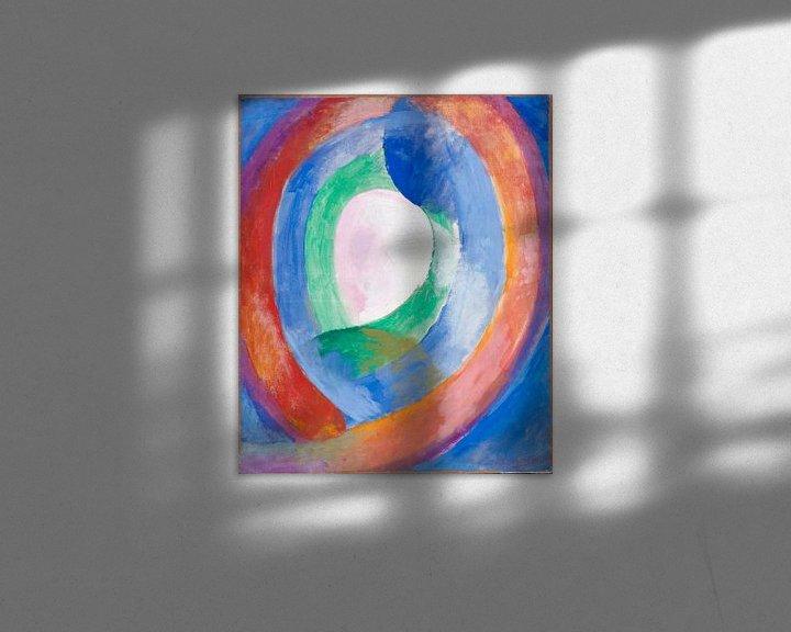 Beispiel: Formen circulaires; lune no. 1, Robert Delaunay