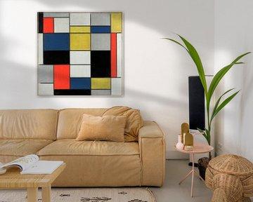 Komposition A, in Schwarz, Rot, Gelb und Blau, Piet Mondrian