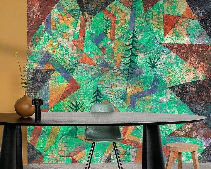 Beispiel fototapete: Wald Bau, Paul Klee