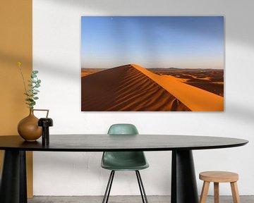 Woestijn Erg Chebbi, Marokko van Photography by Cynthia Frankvoort