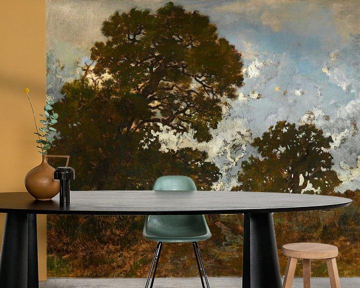 Beispiel fototapete: Die Buche im Wald von L'Isle Adam, Théodore Rousseau