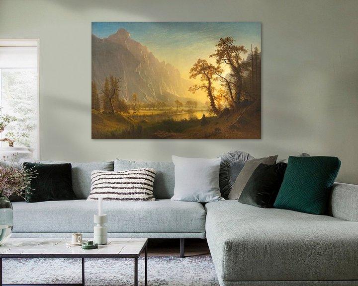 Beispiel: Sonnenaufgang, Yosemite Valley, Albert Bierstadt