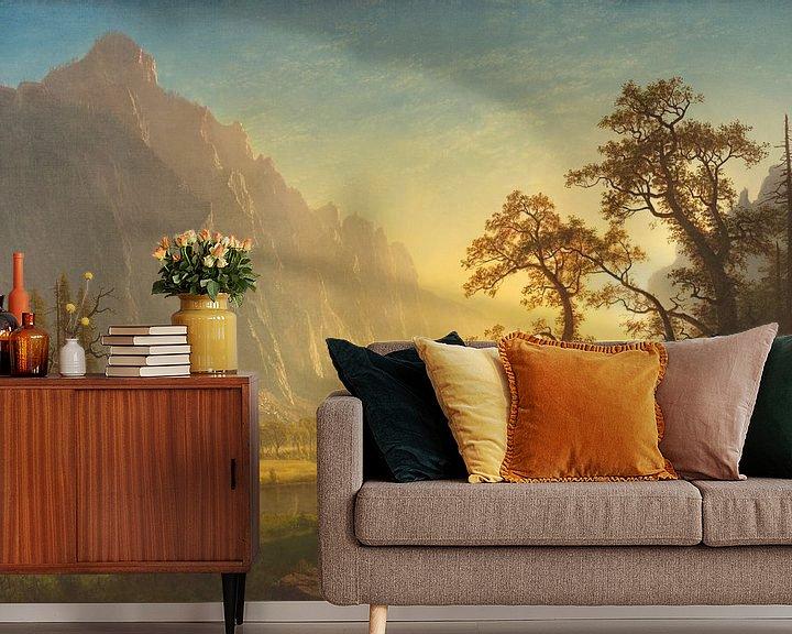 Beispiel fototapete: Sonnenaufgang, Yosemite Valley, Albert Bierstadt