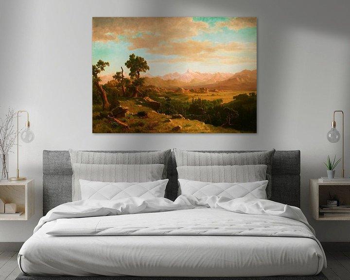 Beispiel: Wind River Country, Albert Bierstadt