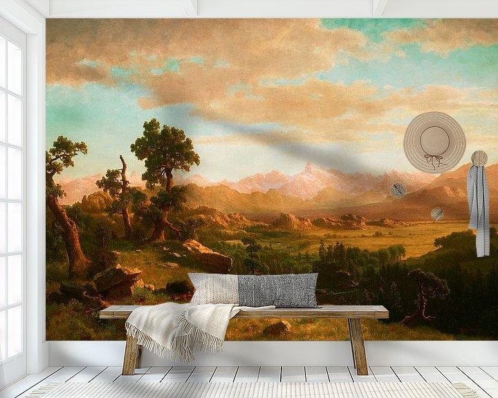 Beispiel fototapete: Wind River Country, Albert Bierstadt
