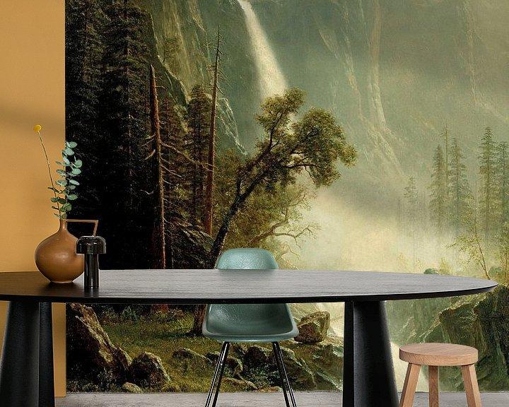 Beispiel fototapete: Brautschleierfall, Yosemite, Albert Bierstadt