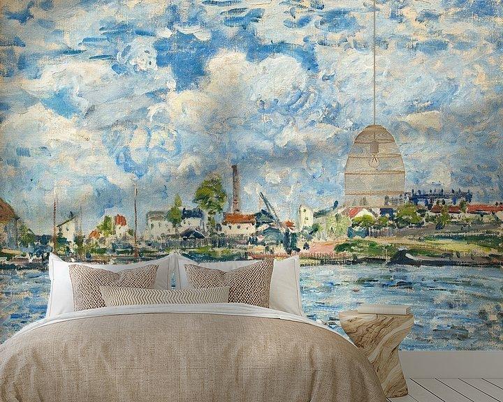 Beispiel fototapete: Die Seine im Morgengrauen, Alfred Sisley