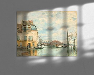 Überschwemmung in Port-Marly, Alfred Sisley