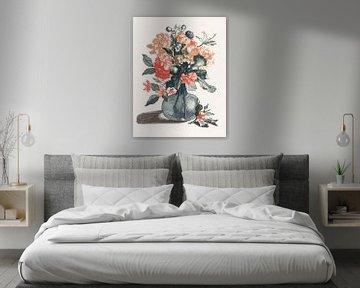 Blumen in einer Vase, Johan Teyler