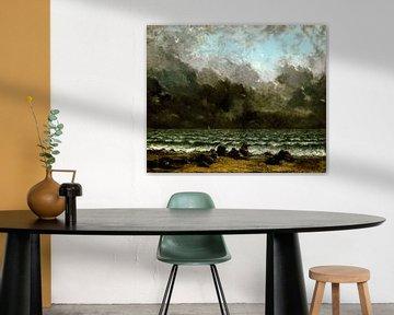 Das Meer; Seelandschaft, Gustave Courbet