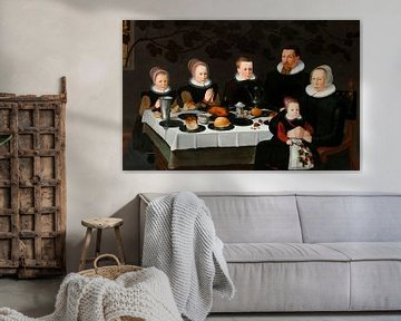 Wohlhabende kalvinistische Familie, anonym
