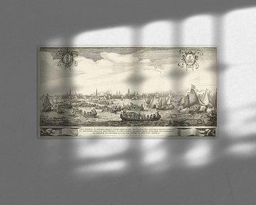 Spelevaart op het IJ, 1638, Salomon Savery