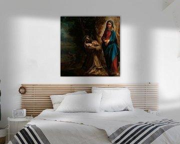 Die Vision des Heiligen Franz von Assisi, Ludovico Carracci