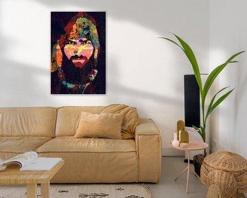 Les barbes sont sexy - un homme avec une barbe, une moustache et une casquette sur The Art Kroep