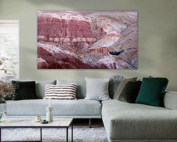 Paysage rose dans l'Atlas du Maroc sur Jan Katuin