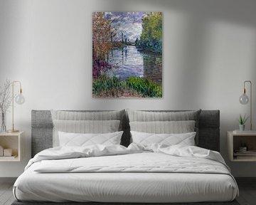 Der kleine Arm der Seine im Herbst, Gustave Caillebotte