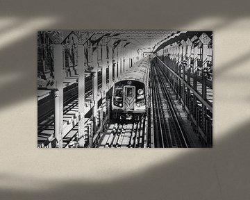 New Yorker U-Bahn von Michèle Huge