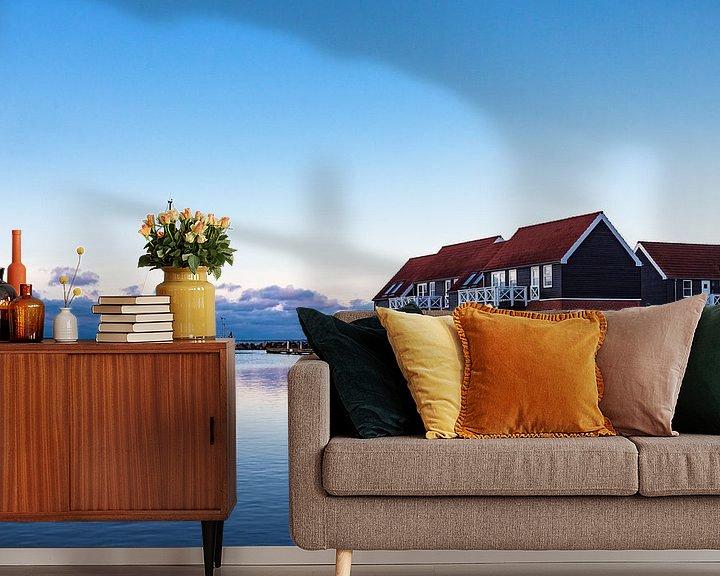 Beispiel fototapete: Blick auf den Hafen von Klintholm Havn in Dänemark von Rico Ködder