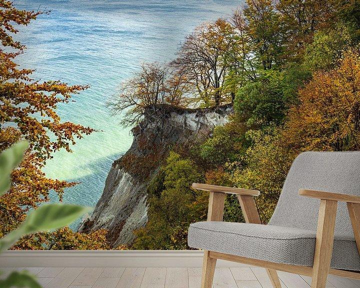 Beispiel fototapete: Ostseeküste auf der Insel Moen in Dänemark von Rico Ködder