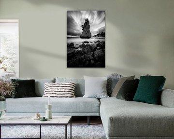 Kathedralenbucht in Schwarz-Weiß von Michael Bollen