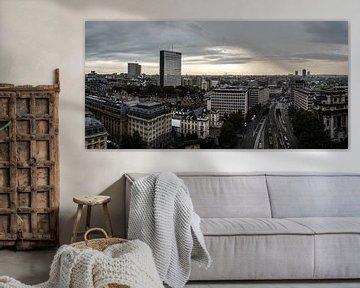 Brussel vanuit de lucht van Werner Lerooy