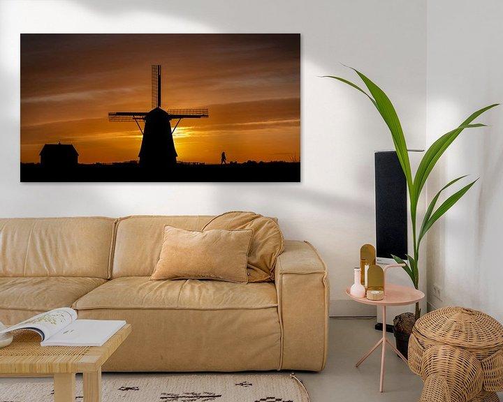 Sfeerimpressie: Molen Het Noorden Texel zonsondergang van Texel360Fotografie Richard Heerschap