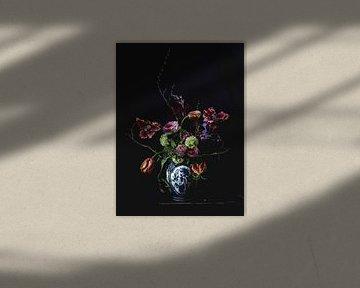 Stilleven met bloemen van Wietske Lavrijssen