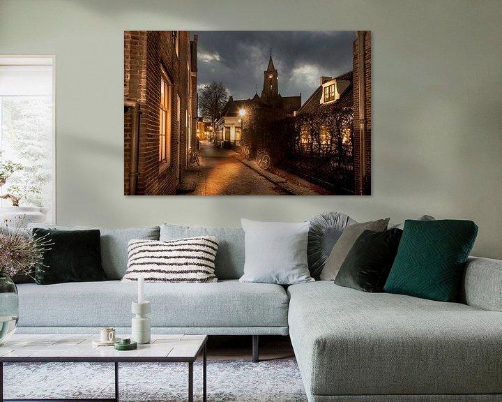 Impression: Rue romantique dans un vieux village hollandais avec des vélos, Loenen aan de Vecht sur Jan van Dasler