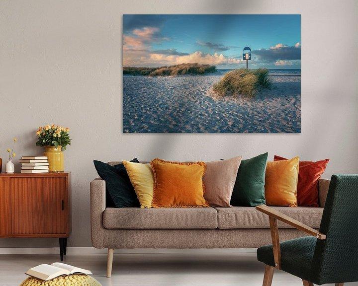 Beispiel: Ostsee Heiligenhafen Strand im Abendlicht von Jean Claude Castor