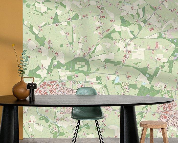 Sfeerimpressie behang: Kaart vanScherpenzeel