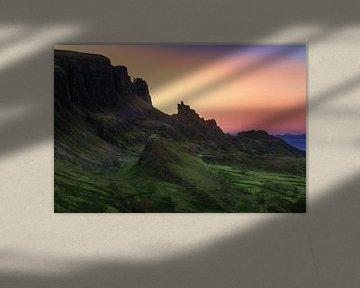 Isle of Skye De Quiraing bij zonsopgang van Jean Claude Castor
