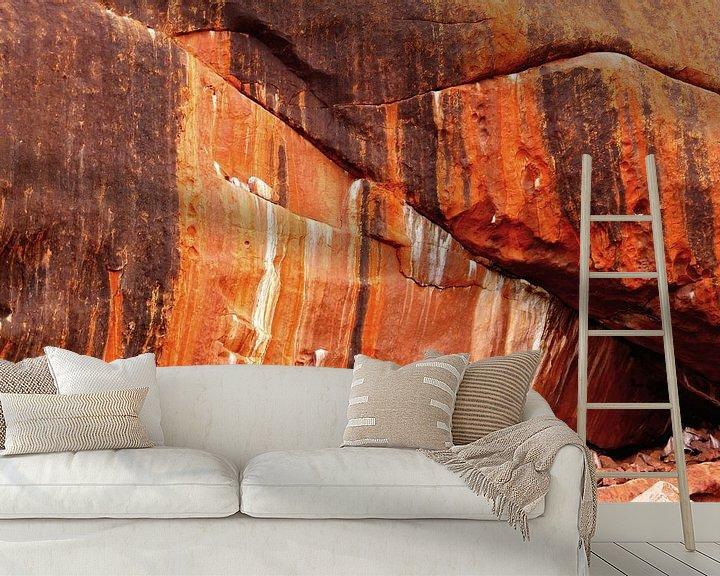 Sfeerimpressie behang: Uluru abstract van Inge Hogenbijl