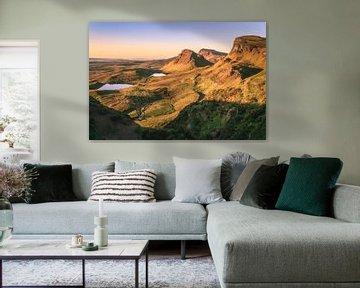 De Quiraing op het eiland Skye Panorama van Jean Claude Castor
