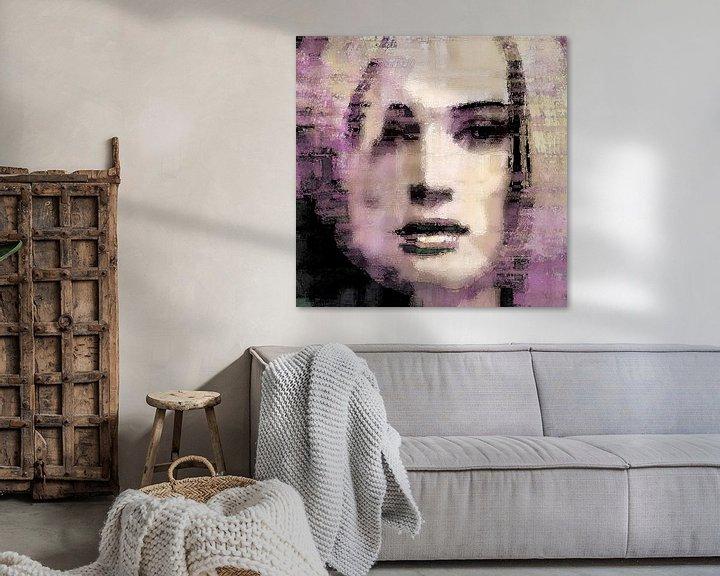 Sfeerimpressie: Abstract portret no. 1 van Diana Mets