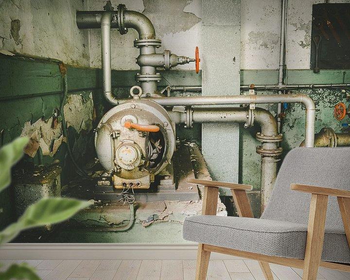 Beispiel fototapete: Wasserkraftwerk Urbex von Martijn Tilroe