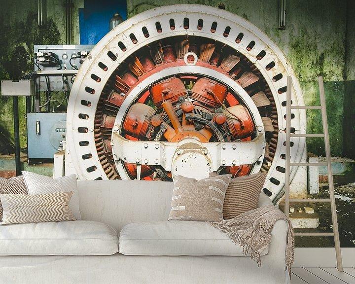 Beispiel fototapete: ein großer Wasserkraft-Transformator von Martijn Tilroe